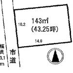 江南市後飛保町の【土地】不動産情報 KO0153