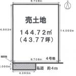 一宮市馬見塚の【土地】情報*IC-0306(4号地)